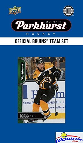 Boston Bruins 2016/2017 Upper Deck Parkhurst NHL Hockey EXCLUSIVE Limited Edition Factory Sealed 10 Card Team Set including Tuukaa Rask, Patrice Bergeron, Zdeno Chara & all the Top Stars! Wowzzer!