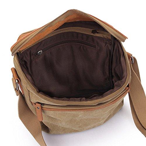 Männer Jahrgang Leinwand Schulter Aktentasche Messenger Taschen Schulranzen Freizeit Tasche,A-26cm*7cm*28cm