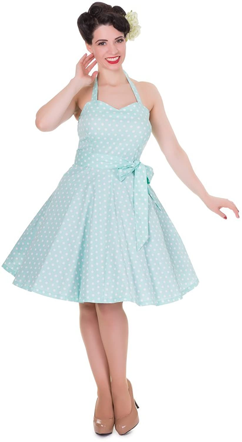 Dolly and Dotty™ 'Penny' Polka Dots Tupfen Neckholder Vintage Swing Kleid