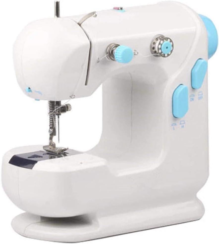 Sorlakar 1 Piezas Máquina de coser portátil con lámpara de pedal de pie Máquina de coser de doble velocidad para mujeres Niños Niñas Máquina de coser ligera para el hogar sala de estar escuela