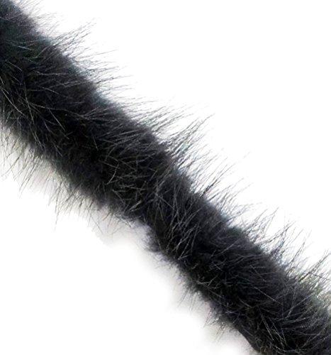 Real Mink Trim Grey Decorative Edge Sew In Pipe Trim appx 1 Meter