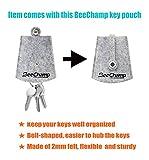 BeeChamp 6pcs Synthetic Nylon Hair Flat Art Paint