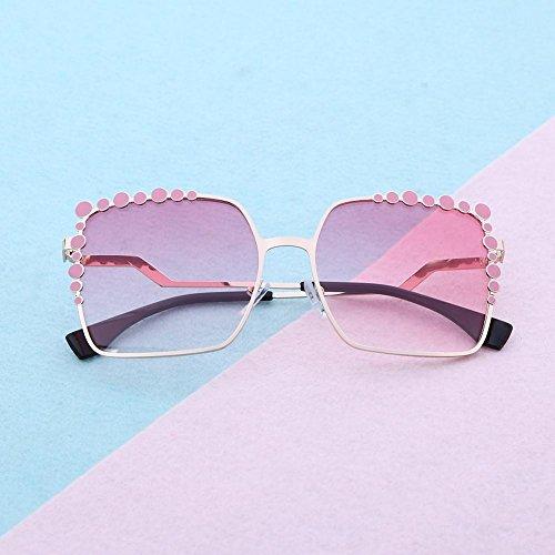 du Or UEB Polarisées Lunettes Soleil Style Casual de Inspirées rose xwRAZR4q