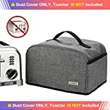 HOMEST Toaster Dust Cover with Pockets Compatible