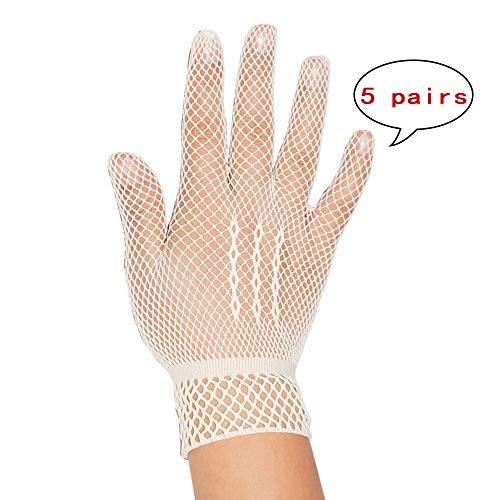 (HTWY Nylon mesh Wedding Bridal Gloves,Beige)