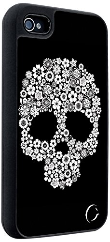 Cellairis Festival Bloom Skull Aluminum Case for iPhone 4/4S - Retail Packaging - Black