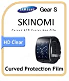 Samsung Gear S Screen Protector, Skinomi TechSkin (6-Pack) Full Coverage Screen Protector for Samsung Gear S Clear HD Anti-Bubble Film