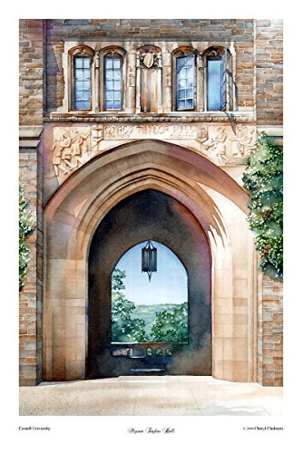 Cornell University, Myron Taylor Hall, Watercolor, Christmas Gift, Print,  Ithaca,