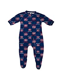 Montreal Canadiens Newborn All Over Print Raglan Sleeper