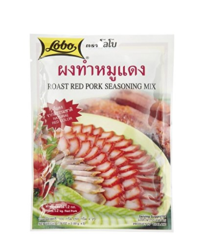 Chinese Roast Pork - Lobo ,Roast Red Pork Seasoning Mix Paste - 3.52 Ounces (Pack of 6)