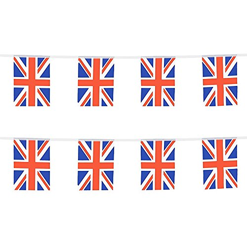 UK Flags,United Kingdom Flags,British Union Jack National Country World Pennant Flags Banners String For Classroom Garden Olympics Festival Grand Opening Bar Sports Clubs Party Events Decorations