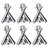 Monrocco 100Pcs Antique Silver Tibetan Baseball or Softball Charms Pendants for DIY Jewelry Wholesale Crafting Bracelet and Necklace Making (