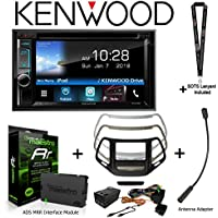 Kenwood Excelon DDX595 6.2 DVD Receiver iDatalink KIT-CHK1 Dashkit for Jeep cherokee, BAA23 Antenna Adapter, and ADS-MRR Interface Module and a SOTS Lanyard