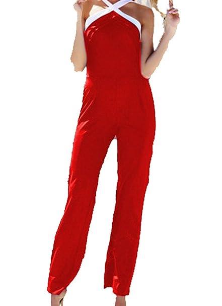 tuta con pantaloni lungo vestito abito cerimonia da donna elegante casual  party (M 9413ea54772
