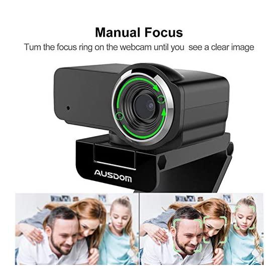 HD Webcam 1080P with Microphone, Ausdom USB Computer Web Camera, OBS Live Streaming Webcam, Widescreen Video Camera for… 51TvbKXqBpL. SS555