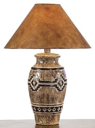 (Southwestern Petroglyph Table Lamp)