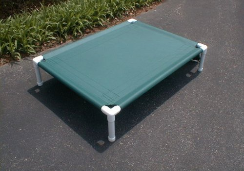 Dianes K9 Creations Inc. Elevated Dog Cot. Large Pet Bed. Dog Bed. Canvas. 38x50x10 Forest Green For Sale