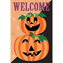 Halloween Welcome Plush Home Garden Flag - 12 x 18 Inches