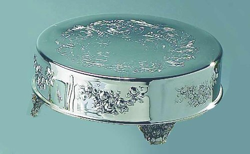 Elegance Silver 89907 Silver Plated Round Cake Stand, 16
