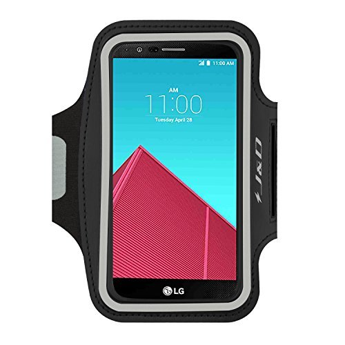 J&D Armband Compatible for LG G4 Armband/LG G5 Armband/LG G6 Armband/LG G6 Plus Armband/LG G7 Armband/LG G7 ThinQ Armband, Sport Armband w/Key holder Slot&Earphone Connection for LG G4 Running Armband