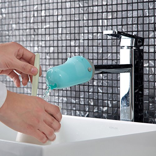 Corner Series Bath Sink - Hippo Faucet Extender for Babay Learning. Brilliant Parentling Mmoment for Make Fun of Washing Hands Before and After Eating, Plus, Influencing a Good Habit in Their Early Age