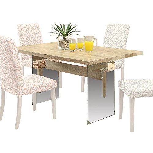 Acme Furniture 71905 Glassden Light Oak Dining Table with Te