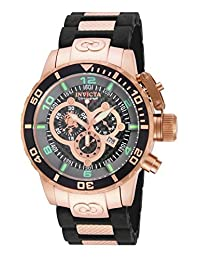 Invicta Men's 'Sea Base' Swiss Quartz Stainless Steel and Polyurethane Casual Watch, Color:Black (Model: 17930)