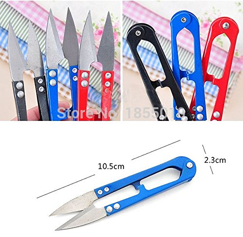 thread cutter - thread snips - fly tying scissors - wiss scissors U Shape Clippers Trimming Scissors Sewing Tool Embroidery Snips Beading Thrum Thread Nippers Mini Scissors