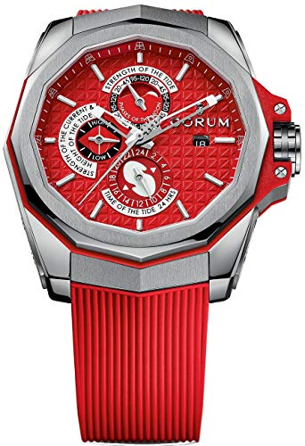 Corum Admiral's Cup Ac-One 45 Tides 277.101.04/F376 AR12 45mm Automatic Titanium Case Red Rubber Anti-Reflective Sapphire Men's Watch