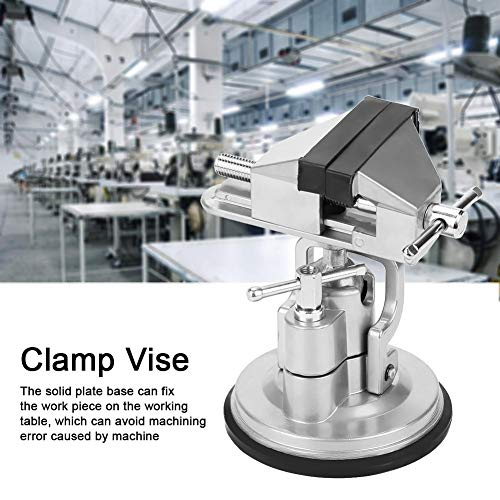 万力ユニバーサルバイス作業万力作業台クランプ回転式 ゴム製の吸盤デザイン滑り止める安全実用固定精密加工や家庭のDIY制作に最適