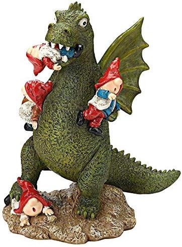 Design Toscano HT542331 Dragon's Gonna Get Ya Garden Gnome Apocalypse Statue
