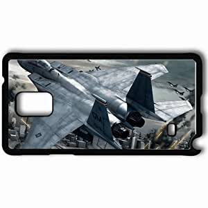 Personalized Samsung Note 4 Cell phone Case/Cover Skin Ace Combat Fighter City Fight Fuselage Black by icecream design