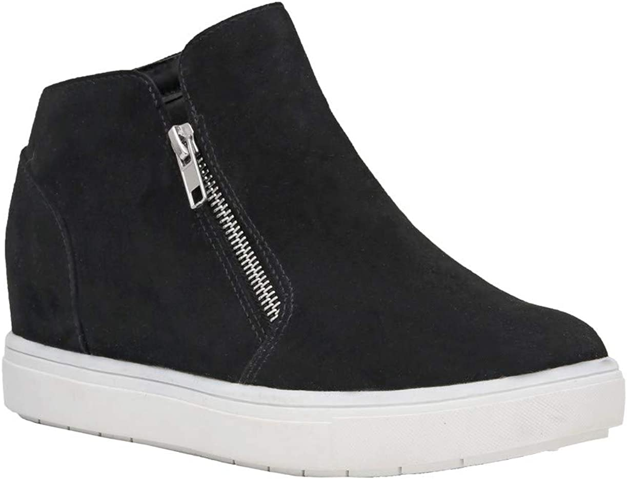 CUSHIONAIRE Womens Hart Hidden Wedge Sneaker Wide Width Available