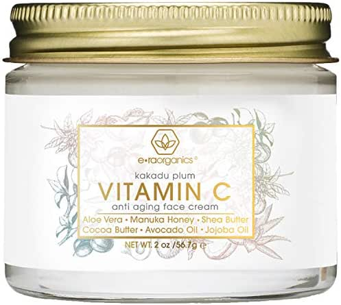 Vitamin-C Face Moisturizer & Eye Cream - Revitalizing Natural Anti Aging Moisturizer With Kakadu Plum, Jojoba Oil, Avocado Oil, Vitamin E for Dry Skin Care, Wrinkles, Aging & Eye Bags 2oz Era-Organics