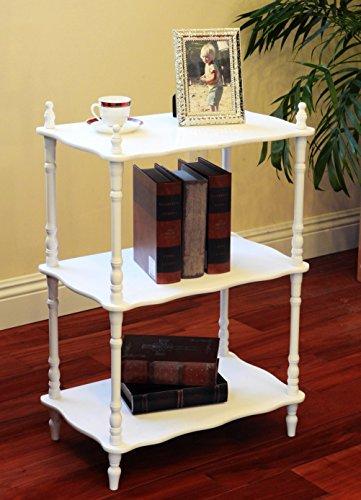 (Frenchi Home Furnishing 3-Tier Shelves, White)