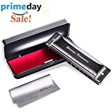 : Diatonic Harmonica 10 Hole – Blues Harp with Case, Polishing cloth, Instruction, Key of C