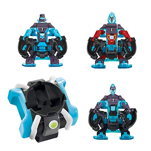 (Ben 10 Omni-Launch Battle Figures- Omni-Enhanced Heatblast, Diamondhead & XLR8)