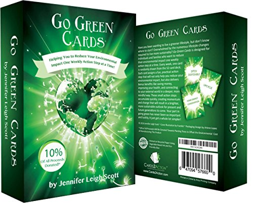 Earth Day is Every Day with Go Green Cards! Sustainable Living Made Easy & Fun! | Weekly Action Steps | Great Family Activities | Going Green | Sustainability | Great Eco Friendly Gift -