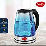 Pigeon by Stovekraft Crystal Glass Electric Kettle 1.8 Litre with LED Illumination, Heat Resistant Pyrex Clear Glass…