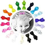 hip girl boutique 18pc grosgrain mini bow tie hair bow clips for baby infant toddler women adult