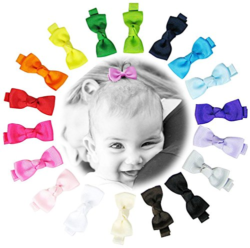 "Price comparison product image HipGirl 18pc 2"" Bow Tie Hair Bow Clip, Barrette.Grosgrain Ribbon Alligator Clip For Girl Baby Teen Kid Toddler Adult.For Pigtails,Ponytails.Assorted Beauty Accessories,Match Outfits,Dresses"