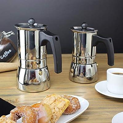 MAGEFESA Genova – La cafetera MAGEFESA Genova está Fabricada en Acero Inoxidable 18/10, Compatible con Todo Tipo de Cocina. Fácil Limpieza (Cromado, ...