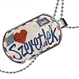 Dogtag I Love You Hungarian Love Letter