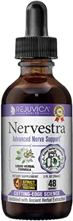 Nervestra Nerve Health Support Supplement - Fast, Natural Liquid Formula - Turmeric, White Willow Bark, B-Vitamins, Alpha Lipoic Acid, Acetyl-L-Carnitine and More