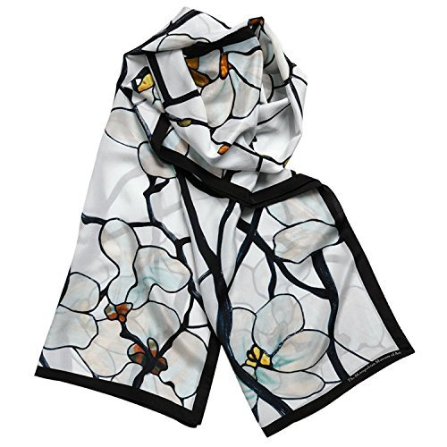100% Silk Shawl Scarf for Womens Scarves Magnolia Louis Comfort Tiffany Inspired Tiffany Magnolia