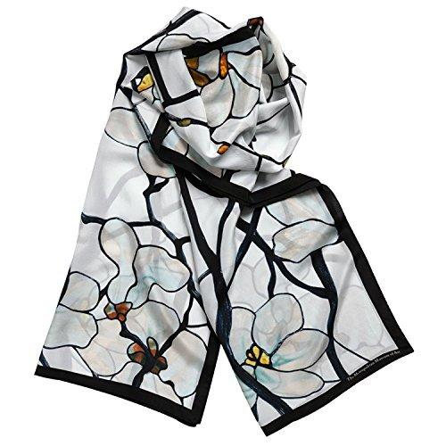 100% Silk Shawl Scarf for Womens Scarves Magnolia Louis Comfort Tiffany -