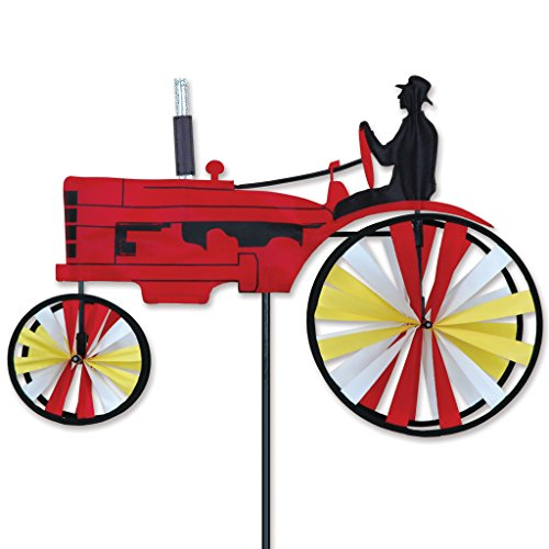 23 In. Old Tractor Spinner - Red - Red Tractor Spinner