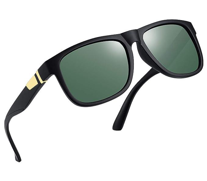 b026e715ba Image Unavailable. Image not available for. Color  Unisex Polarized  Sunglasses Men Women Square Frame Sun Glasses ...