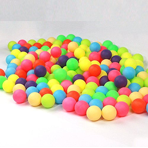 100Pcs/Pack Colored Ping Pong Balls 40mm 2.4g Entertainment Table Tennis Balls Mixed Colors for Game and Advertising by Generic