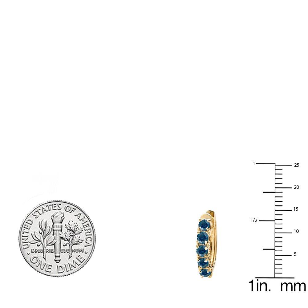Dazzlingrock Collection 1.00 Carat ctw 18K Ladies Huggies Hoop Earrings 1 CT, Yellow Gold